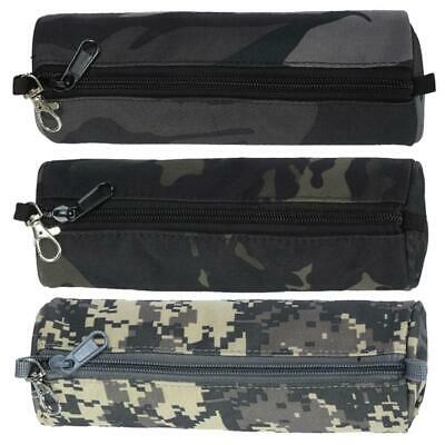 Camouflage Big Pen Bags Portable Travel Waterproof Oxford Cloth Pencil Case K1B