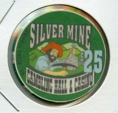 $25 Silver Mine Rare 1st issue Cripple Creek, Colorado Casino Chip RARE UNC!