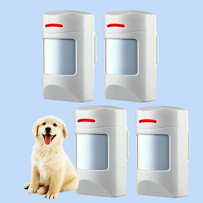 4PCS Wireless Pet-Immune PIR Motion Detector Sensor Alarm System 433Mhz