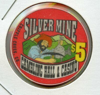 $5 Silver Mine Rare 1st issue Cripple Creek, Colorado Casino Chip RARE UNC!