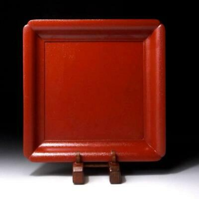 TQ12: Vintage Japanese Lacquered Wooden Tea plate, Natural wood