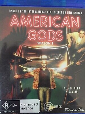 AMERICAN GODS - Season 2 2 x Disc BLURAY Set AS NEW! Complete Second Series Two