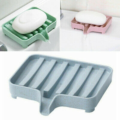 Soap Dish Storage Holder Rack Organizer Box Drainer Plate Tray For Home Kitchen