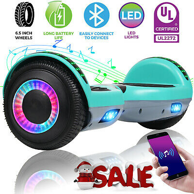 "6.5"" Bluetooth Hoverboard Electric Self Balancing Scooter UL Without Bag Green"