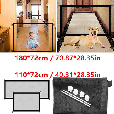 Retractable Removable Pet Dog Cat Door Gate Safety Guard Stair Window Isolation