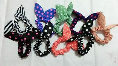 1x Scrunchie Bow Kids Elastic Bands# Girls- Hair Tie Bobble Hair Band-Pony Tail