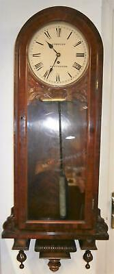 Passing Strike Fusee Wall Clock Serviced & Overhauled in Very Good Condition