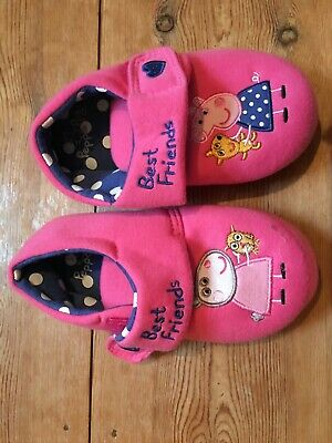 Peppa Pig Slippers Girls Size 12 Marks and Spencer