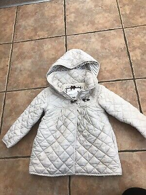 GIRLS BEIGE MOTHERCARE PADDED WINTER COAT AGE 18-24 Months VGC