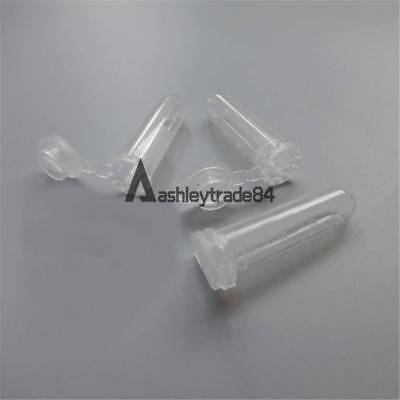 100pcs 2ml Micro Centrifuge Tube Vial Clear Plastic Vials Container Snap Cap