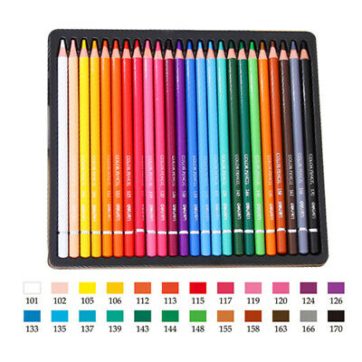 24 Colors Oil Art Pencils Drawing Sketching Artist Adult Non-toxic Colour Gifts