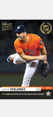 2019 Topps Now Moment Of The Year Card Houston Astros Justin Verlander #Moy-15