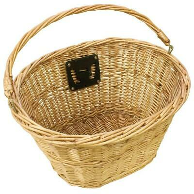 Bicycle Front Wicker Basket Including Mounts