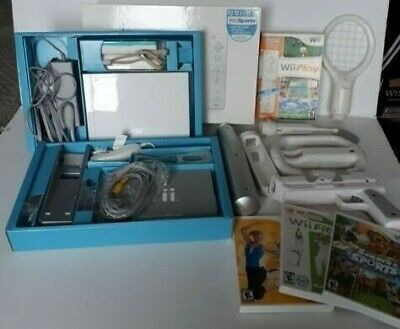Nintendo White Wii Console Complete Bundle with Games and Accessories RVL-001