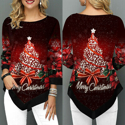 Ladies Loose Baggy Jumper Christmas Festival Hoodie Pullover Top Blouse T-shirts