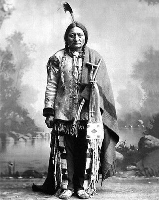 Native American Indian CHIEF SITTING BULL 8x10 Photo Sioux Glossy Print Vintage