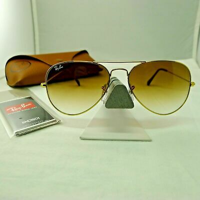 Ray Ban aviator 3025 001-51 Brown Gradient / Gold frame SIZE 58mm NEW Unisex