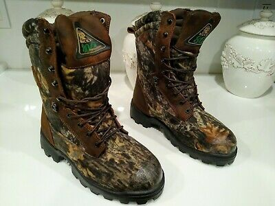 Rocky Waterproof Insulated 800G Hunting Outdoor Boots Men's Size 8 Extra Grip