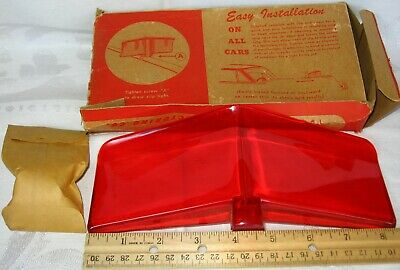Original 1950s Vintage Accessory Rowse Red Hood Sweep Deflector Old Stock