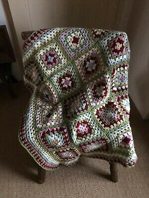 Granny Blanket square handmade new crocheted vintage style