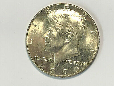 HIGH GRADE 1970-d KENNEDY SILVER HALF DOLLAR....w/same day low combined shipping