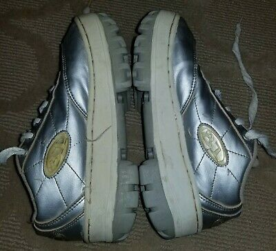 90s vintage 81 Raver 6.5 womens silver platform shoes Hot Topic chunky heel