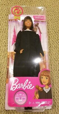 Barbie 2019 Career of the Year JUDGE Doll Short Brown Hair Girl Mattel FXP44