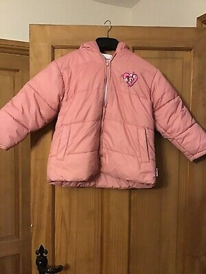 Girls Pink Minnie Mouse Padded Hooded Coat Stunning Age 6