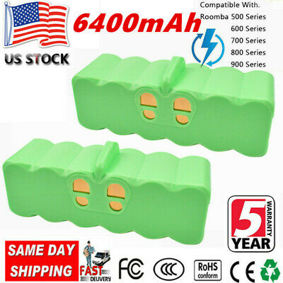 For Roomba Nimh Battery 2-pack 14.4v 5800mAh 500-800 for Roomba and Scooba 450