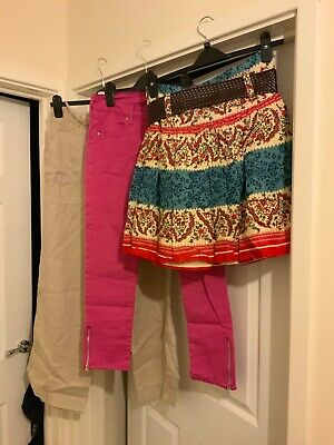 Ladies Bundle Clothes Size 8 Short Skirt, Trousers M&S, Atmosphere Brand New