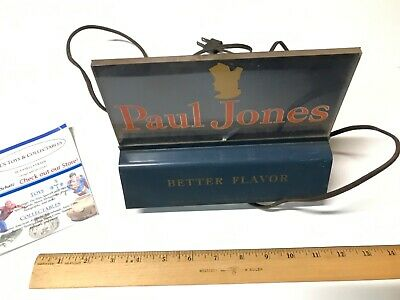 Paul Jones Whiskey Rare Lighted Steel/Tin Display Advertising Sign Works