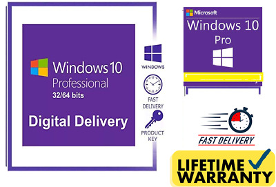 Windows 10 Pro Key 64 & 32 Bit supported Fast delivery win 10 Pro 100% genuine