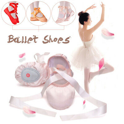 New Ballet Professional Satin Pointe Ribbon Ties Shoes Red /Nude/Pink/Camel