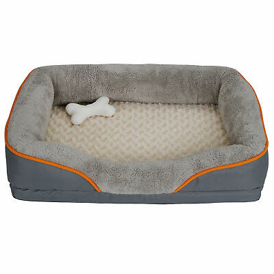 """31"""" Orthopedic Dog Bed Memory Foam Pet Bed with Removable Washable Cover & Toy"""