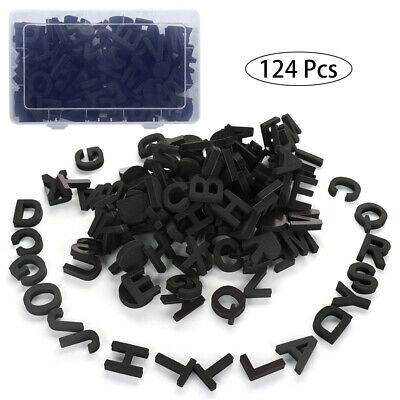 124PCS Magnetic Numbers Letters Alphabet Learning Toy Fridge Magnets Xmas gift