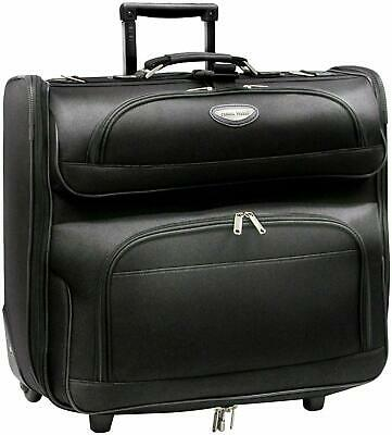 Rolling Garment Bag Luggage Carry On Folding Suitcase Travel Wheels Clothing New