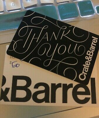 crate and barrel gift card $50 value