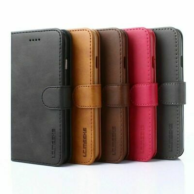 Luxury Magnetic Flip Cover Stand Wallet Leather Case For iPhone 11 X 6 7 8 Plus