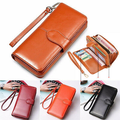 Fashion Women Lady Leather Wallet Long Card Phone Holder Clutch Purse Handbag