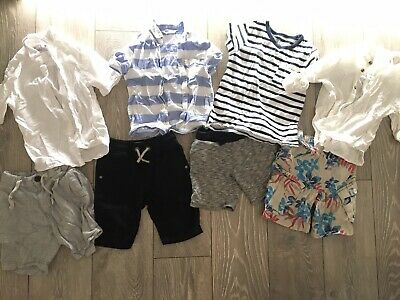 Boys Bundle Summer / Winter Holiday Age 4-5 Next H&M Linen Shorts Shirts Tshirts