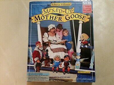 MIXED-UP MOTHER GOOSE SIERRA Game for IBM TANDY MS-DOS Floppy Disks ORIG. 1987