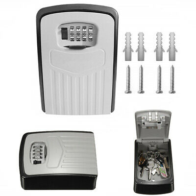 New Key Safe Lock Box Outdoor Storage 4* Password Keys Combination Wall Mounted