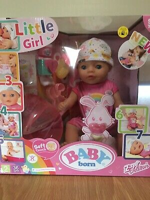 "Baby Born ""Soft Touch"" Little Girl Doll Bnib"