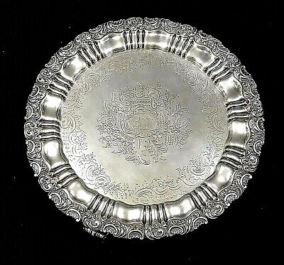 """Antique Gorham Silver Plated 16"""" Footed Serving Tray"""