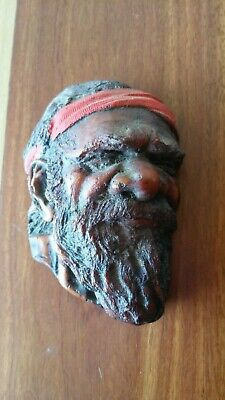 Australian Aboriginal Elder Vintage 1960s Face Figurine - Resin (?)