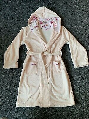 Ted Baker Girls Baby Pink Dressing Gown Robe Nightwear Christmas Eve PJ's