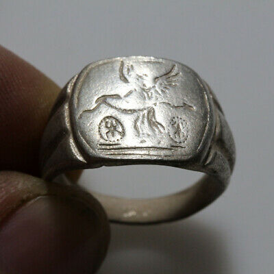 Nice & Wearable Roman Silver Seal Ring Circa 100 Ad