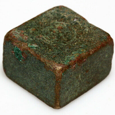 BYZANTINE BRONZE SQUARE WEIGHT FOR CIRCA 500-700 AD-28.85gr