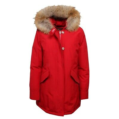 F8816 parka donna WOOLRICH ARTIC PARKA red real fur jacket woman