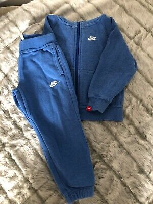 Boys NIKE Tracksuit Zip Up Top/Bottoms Age 3-4 Years - VGC